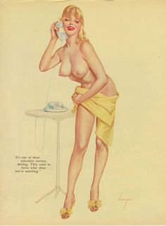 Rare 50's Early 60's Vintage Vargas Pin Up Girl Playboy Picture Hollywood Regency
