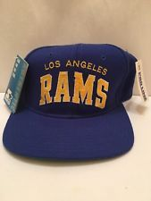 purchase cheap 1a3ce 5f1a1 Vintage 90s Los Angeles Rams Starter Arch Wool Snapback Hat Blue NEW WITH  TAGS