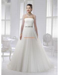 RONALD JOYCE A-linie Lange Brautkleider aus Softnetz