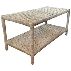 Moroccan Rope Coffee Table   From a unique collection of antique and modern coffee and cocktail tables at https://www.1stdibs.com/furniture/tables/coffee-tables-cocktail-tables/