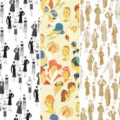1920s Fashion Wrapping Paper