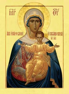 """""""If I an with you no one can be against you"""" / Afbeeldingsresultaat voor леушинская икона божией матери Byzantine Icons, Byzantine Art, Blessed Mother Mary, Blessed Virgin Mary, Religious Icons, Religious Art, Our Lady Of Rosary, Religion Catolica, Mama Mary"""