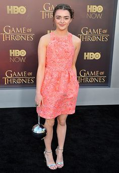 Maisie Williams looked picture perfect at the Game of Thrones premiere wearing this ASOS dress. Time to get shopping for prom dontcha think? http://asos.do/yhvuC6