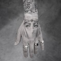 Fornasetti tattoo on hand by @mr.k_tats