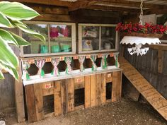 This chicken coop started out as a horse lean-to and has now been transformed into the Chick Inn that houses 15 chicken and 6 ducks. All for the love of designing, let your creativity flow <3