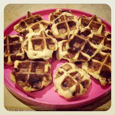 90 Second Chocolate Chip Cookies...  Use a waffle iron!