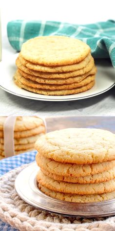 Absolutely The Best Sugar Cookie Recipe EVER Absolutely The Best Sugar Cookies EVER!The recipe gave me BIG, round, soft and chewy cookies, just like you'd buy in a bakery. There's no doubt about it, These are Absolutely The Best Sugar Cookies EVER! Chewy Sugar Cookies, Best Sugar Cookies, Cookies Et Biscuits, Yummy Cookies, Best Shortbread Cookies, Best Cookies Ever, Crispy Cookies, Drop Cookies, Brownie Cookies