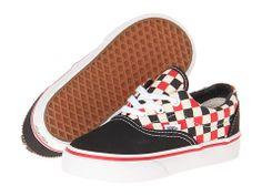 Vans Kids Era (Toddler) (Checker) Black/Multi - Zappos.com Free Shipping BOTH Ways