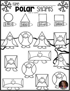 Polar Animal Math and Literacy Worksheets and Printables for Preschool is a no prep packet packed full of worksheets and printables to help reinforce and build literacy and math skills in a fun, engaging way. This unit is perfect for the month of January. Kindergarten Rocks, Preschool Math, Kindergarten Activities, Preschool Winter, Polar Animals Preschool Crafts, Penguin Craft, Winter Preschool Activities, Preschool Education, Preschool Printables