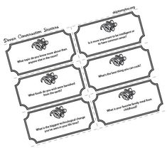 """Printable dinner conversation starters to help everyone share about their day! Love it, so like this thing called """"share time"""" that I used to make my friends do at the high school lunch table! I was notorious for making people """"enjoy"""" games! ;)"""