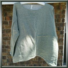 NWOT Lightweight Distressed Green Sweatshirt Summer sweatshirt with generous,  oversized cut, distressed design, great for the windy beach in the late afternoon!   I need space in my closet. So, this can be yours for just $25!   Never worn. Brand new. Loveappella Tops Sweatshirts & Hoodies