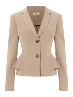 LINEA - Peplum Jacket, House of Fraser Plus size collection
