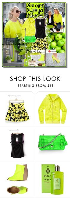 """""""Neon"""" by barbarela11 ❤ liked on Polyvore featuring KEEP ME, Prada, Juicy Couture, Ralph Lauren Collection, MM6 Maison Margiela and Salvatore Ferragamo"""