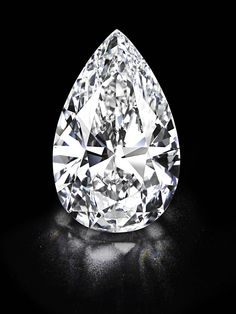 """The 101"" the largest D color flawless diamond ever to come to auction. Sold at the auction for 26.7 million dollars."