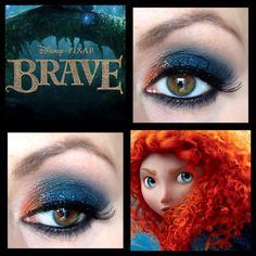 Princess Merida inspired eye makeup