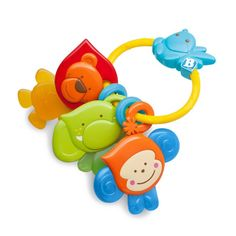 Cute animals linked on a solid rattle ring will keep babies happy while teething ! • https://tinytotsbabystore.com/product/bkids-teething-pals-safari-bebee-and-friends/?utm_content=buffer0608e&utm_medium=social&utm_source=pinterest.com&utm_campaign=buffer