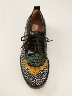Shop Valentino Garavani feather brogues in Stefania Mode from the world's best independent boutiques at farfetch.com. Over 1000 designers from 300 boutiques in one website.