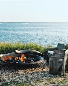 This propane-fueled, no-logs-required fire bowl can be enjoyed long after Labor Day.