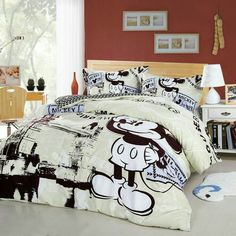 Mickey Mouse Trip To London Cream Colored Disney Bedding Set Duvet Bedding, Comforter Sets, Casa Disney, Disney House, Mickey Mouse Room, Disney Bedding, Disney Bedrooms, Disney Home Decor, My New Room