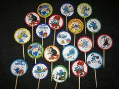 Smurf Cupcake Picks