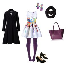 """""""Winter Purple"""" by marianaszeplakig ❤ liked on Polyvore featuring Hue, Fragments, John Lewis and Tommy Hilfiger"""