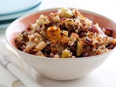 Get Raffy's Turkey Sausage and Chestnut Stuffing Recipe from Food Network