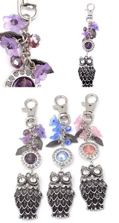 Cute owl key / bag dangles. Includes tutorial.  http://www.handmadefashionjewellery.com.au