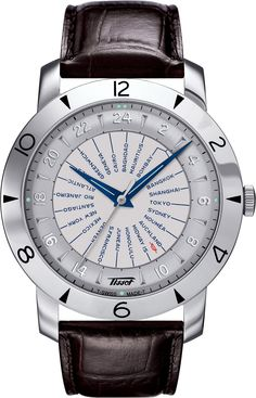 Brand: Tissot, Collection: Heritage, Model Number: T078.641.16.037.00,  Features: World Time, Movement: Automatic, Strap Type: Steel, Case Size: 43 mm, Warranty Period: 2 Years, Water Resistance: 30 meter