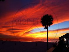 Beach Sunset poster photo at Clearwater Beach Florida Pier 60 11x14 12x16 16x20 20x24 20x30 by PierPrints on Etsy https://www.etsy.com/listing/212967009/beach-sunset-poster-photo-at-clearwater