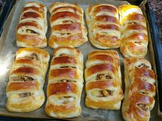Hot Dog Buns, Hot Dogs, Mini Cheesecakes, Nutella, Ham, Cooking, Breads, Baking Ideas, Basket