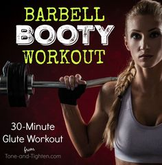 These exercises will help sculpt and define the glutes you want using just a barbell! Abs Workout Video, Gym Video, Butt Workout, Gym Workouts, At Home Workouts, Barbell Workout For Women, Workout Plan For Women, Workout Plans, Barbell Squat