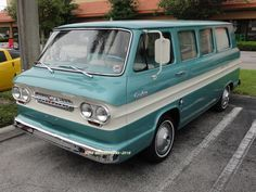 Location: Busters Doughboys & Clam Cakes Sunrise FL.. - 1963 CHEVROLET CORVAIR GREENBRIER VAN ~ Photographer: Tim Sims ~ 08-01-2015