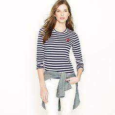 Comme des Garçons Play striped heart t-shirt (cotton, $136.00) #tshirt #stripes #comme_de_garcons