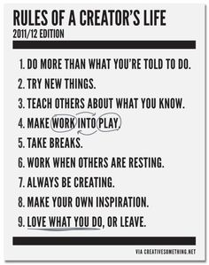 Some Simple Rules For People Who Create