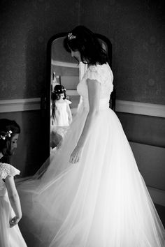 Love this pic with the flower girl in the mirror. Owl & The Pussycat Photo.