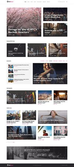 magazine web templates