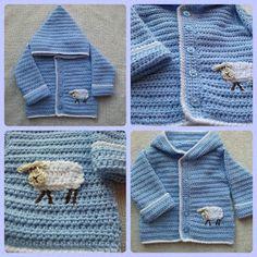 Linda's Crafty Corner: Sweet Little Lamb Hoodie Crochet Teddy, Crochet Baby, Knit Crochet, Crochet Toddler, Crochet For Boys, Crochet Children, Baby Knitting Patterns, Crochet Patterns, Baby Patterns