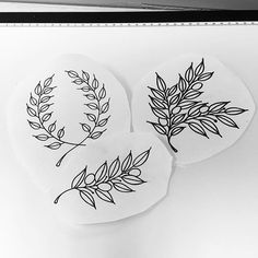 Here's a few different olive branch designs made for tonight's appointment. For…