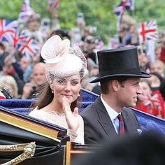 Prince William & Catherine (Duke & Duchess of Cambridge) at the Queens Diamond Jubilee. June 2012