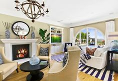 Coastal Living Room. This coastal Living Room is comfy and stylish!