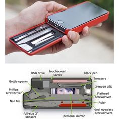 iPhone case with essential every day tools. . . . . #tech #gadgets #photo #technology #photography #techy #newgadget #flashlight #military #gear #outdoors #drone #safety #cars #auto #tv #screen #lcd #led #samsung #3Dprinting #smartwatch #apple #mac #pc #windows #bike #drone #iphonecase #case #iphone by gadgetstech