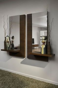 Smart Tips on How to Buy a Wall Mirror - Wall Mirror Decor - Flur Design, Bed Design, Wall Design, House Design, Garderobe Design, Living Room Designs, Living Room Decor, Dressing Table Design, Dressing Table Mirror