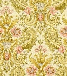 vintage wallpaper gold green brown
