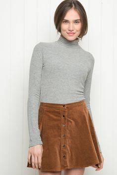 Brandy ♥ Melville | Brya Corduroy Skirt - Clothing
