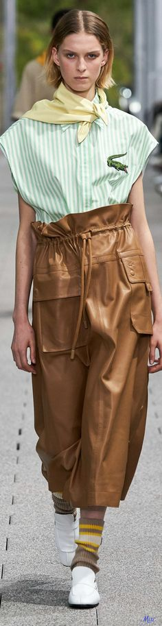 Spring 2020 RTW Lacoste - Winter Outfits - 2020 Fashions Woman's and Man's Trends 2020 Jewelry trends Fashion 2020, Runway Fashion, Spring Fashion, High Fashion, Womens Fashion, Fashion Trends, Evolution Of Fashion, Couture Fashion, Casual Chic