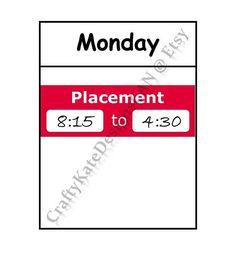 Student Placement Planner Stickers #HappyPlanner #ErinCondren #SimplifiedPlanner