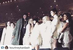 Had the best night!! Blessed to share this night with my family!!! #love #YeezySeason3 #kanyewest #proudmama #Repost @kourtneykardash  The Life of Pablo #krisjenner #krisisms