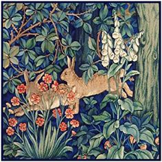 William Morris: This design was created from the works of the artist William Morris. Counted Cross Stitch Chart Specifics It was instigated by the artist and writer William Morris in the and was inspired by the writings of John Ruskin. William Morris Patterns, William Morris Art, Arts And Crafts For Teens, Art And Craft Videos, Arts And Crafts Movement, Gravure Illustration, Tree Illustration, Arts And Crafts Interiors, Art Chinois
