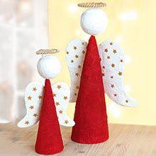Idée créative : Ange de Noël en polystyrène et en plâtre