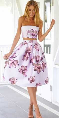Hot White Sexy Wrapped Chest Random Floral Print Cut Out Women Midi Dress Pretty Dresses, Beautiful Dresses, Dress Outfits, Cute Outfits, Midi Dresses, Floral Dresses, Sexy Dresses, Wrap Dresses, Midi Skirt